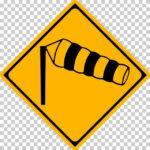 【交通標識】横風注意の 警戒標識【イラスト】ill-tsi_214