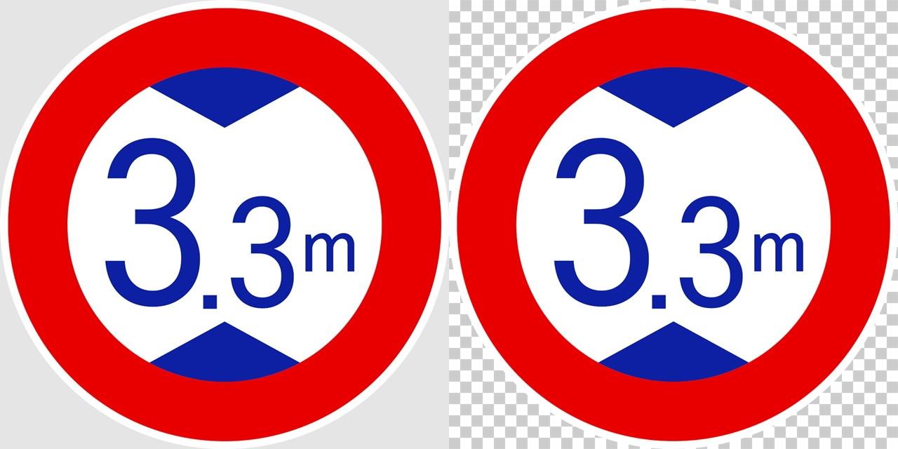 高さ制限の 規制標識│ マーク 日本の道路標識 切り抜き画像 イラスト フリー データ ダウンロード無料 商用可能 フリー素材 ダウンロード Free download 2D illustration JPEG png traffic signs│digital-architex.com