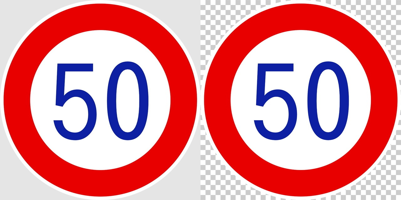 最高速度の 規制標識│50 マーク 日本の道路標識 切り抜き画像 イラスト フリー データ ダウンロード無料 商用可能 フリー素材 ダウンロード Free download 2D illustration JPEG png traffic signs│digital-architex.com