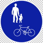 【交通標識】自転車及び歩行者専用の 規制標識【イラスト】ill-tsi_325-3
