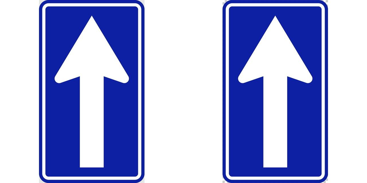 一方通行の 規制標識│矢印 マーク 日本の道路標識 切り抜き画像 イラスト フリー データ ダウンロード無料 商用可能 フリー素材 ダウンロード Free download 2D illustration JPEG png traffic signs│digital-architex.com