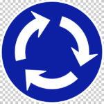 【交通標識】環状の交差点における右回り通行の 規制標識【イラスト】ill-tsi_327-10