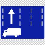 【交通標識】特定の種類の車両の通行区分の 規制標識【イラスト】ill-tsi_327-2