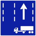 【交通標識】けん引自動車の高速自動車国道通行区分の 規制標識【イラスト】ill-tsi_327-3