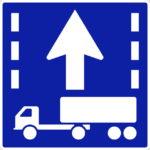 【交通標識】けん引自動車の自動車専用第一通行帯通行指定区間の 規制標識【イラスト】ill-tsi_327-6