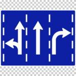 【交通標識】進行方向別通行区分の 規制標識【イラスト】ill-tsi_327-7-A