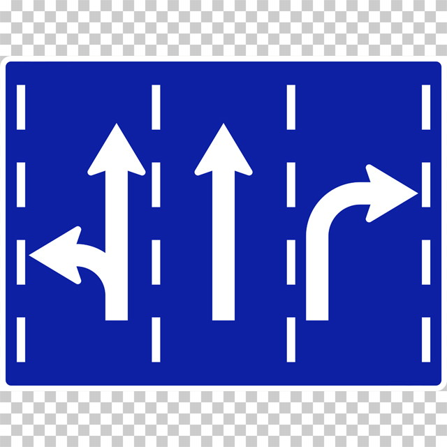 進行方向別通行区分の 規制標識│矢印 マーク 日本の道路標識 切り抜き画像 イラスト フリー データ ダウンロード無料 商用可能 フリー素材 ダウンロード Free download 2D illustration JPEG png traffic signs│digital-architex.com