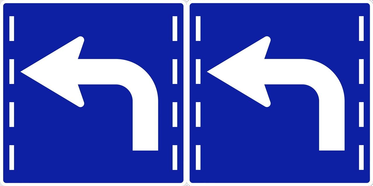 進行方向別通行区分の 規制標識│やじるし マーク 日本の道路標識 切り抜き画像 イラスト フリー データ ダウンロード無料 商用可能 フリー素材 ダウンロード Free download 2D illustration JPEG png traffic signs│digital-architex.com