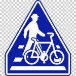 【交通標識】横断歩道・自転車横断帯の 指示標識【イラスト】ill-tsi_407-3