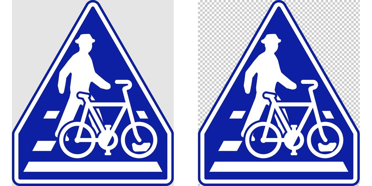 横断歩道・自転車横断帯の 指示標識│ マーク 日本の道路標識 切り抜き画像 イラスト フリー データ ダウンロード無料 商用可能 フリー素材 ダウンロード Free download 2D illustration JPEG png traffic sign│digital-architex.com