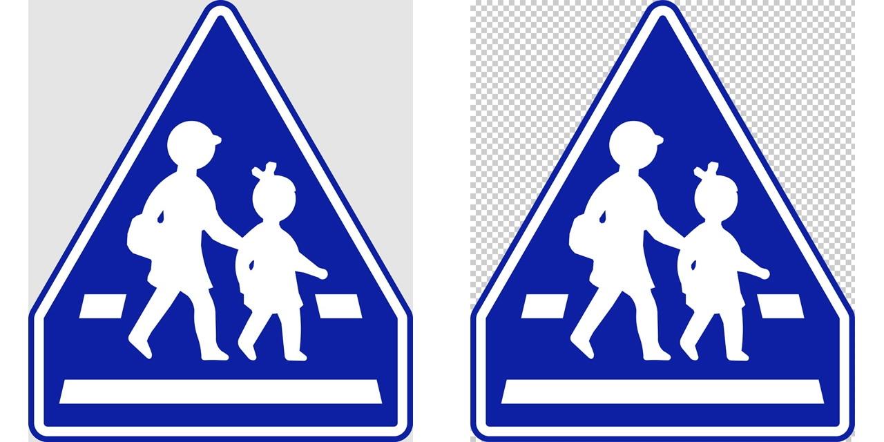 横断歩道の 指示標識│歩く親子 マーク 日本の道路標識 切り抜き画像 イラスト フリー データ ダウンロード無料 商用可能 フリー素材 ダウンロード Free download 2D illustration JPEG png traffic sign│digital-architex.com