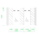 【2D部品】ハンディキャップ専用駐車スペース 2台【DXF/autocad DWG】 2de-pak_0010