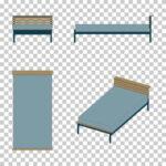 【CG】青いシングルサイズのベッド(カトゥーン調)【イラスト】 ill-int_0011