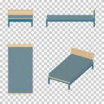 【CG】青いシングルサイズのベッド(油彩調)【イラスト】 ill-int_0012