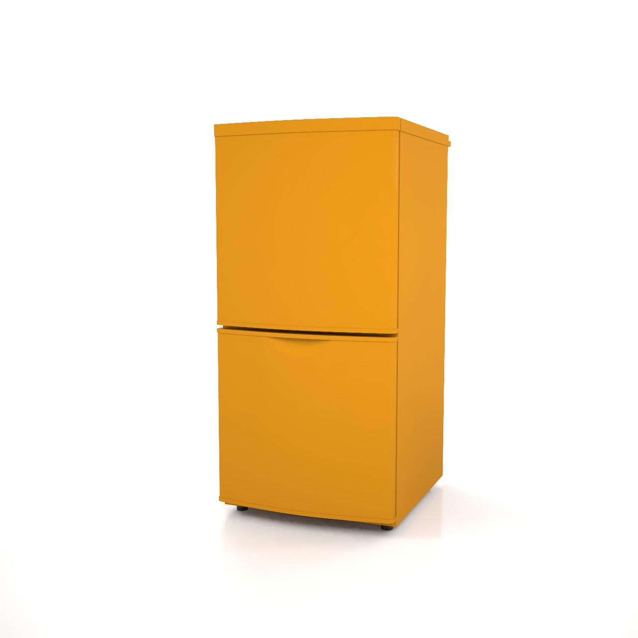 高さ1mサイズの小型の冷蔵庫(オレンジ色)の3dCADデータ│インテリア 家電製品 冷蔵庫 refrigerator│3d cad データ フリー ダウンロード 無料 商用可能 建築パース フリー素材 formZ 3D 3ds obj Free download│digital-architex.com