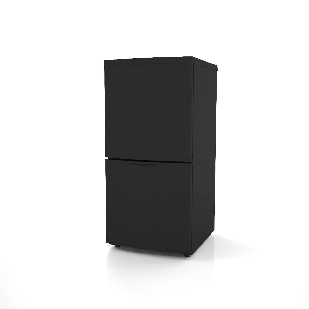 高さ1mサイズの小型の冷蔵庫(黒色)の3dCADデータ│インテリア 家電製品 冷蔵庫 refrigerator│3d cad データ フリー ダウンロード 無料 商用可能 建築パース フリー素材 formZ 3D 3ds obj Free download│digital-architex.com