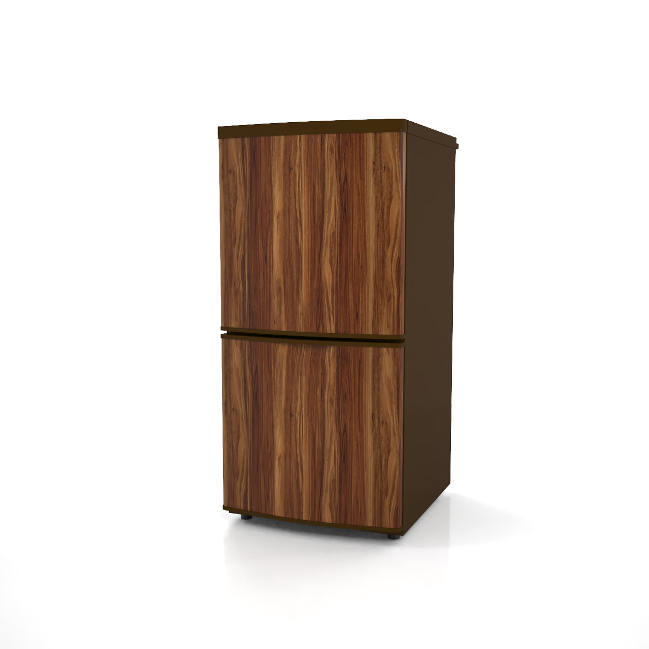 高さ1mサイズの小型の冷蔵庫(木目色)の3dCADデータ│インテリア 家電製品 冷蔵庫 refrigerator│3d cad データ フリー ダウンロード 無料 商用可能 建築パース フリー素材 formZ 3D 3ds obj Free download│digital-architex.com
