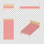 【CG】ピンク色のシングルサイズのベッド【イラスト】 ill-int_0013