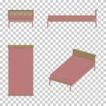 【CG】ピンク色のシングルサイズのベッド(カトゥーン調)【イラスト】 ill-int_0014
