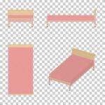 【CG】ピンク色のシングルサイズのベッド(油彩調)【イラスト】 ill-int_0015