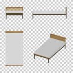 【CG】マットが白い シングルサイズのベッド【イラスト】 ill-int_0016