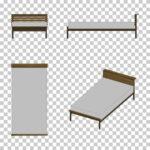 【CG】マットが白い シングルサイズのベッド(カトゥーン調)【イラスト】 ill-int_0017