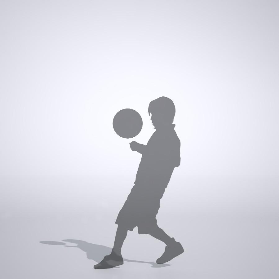 サッカーをしている男の子の3dCADデータ│ポリ板 シルエット 人物 人間 子供 Silhouette people human children│3d cad データ フリー ダウンロード 無料 商用可能 建築パース フリー素材 formZ 3D 3ds obj Free download│digital-architex.com