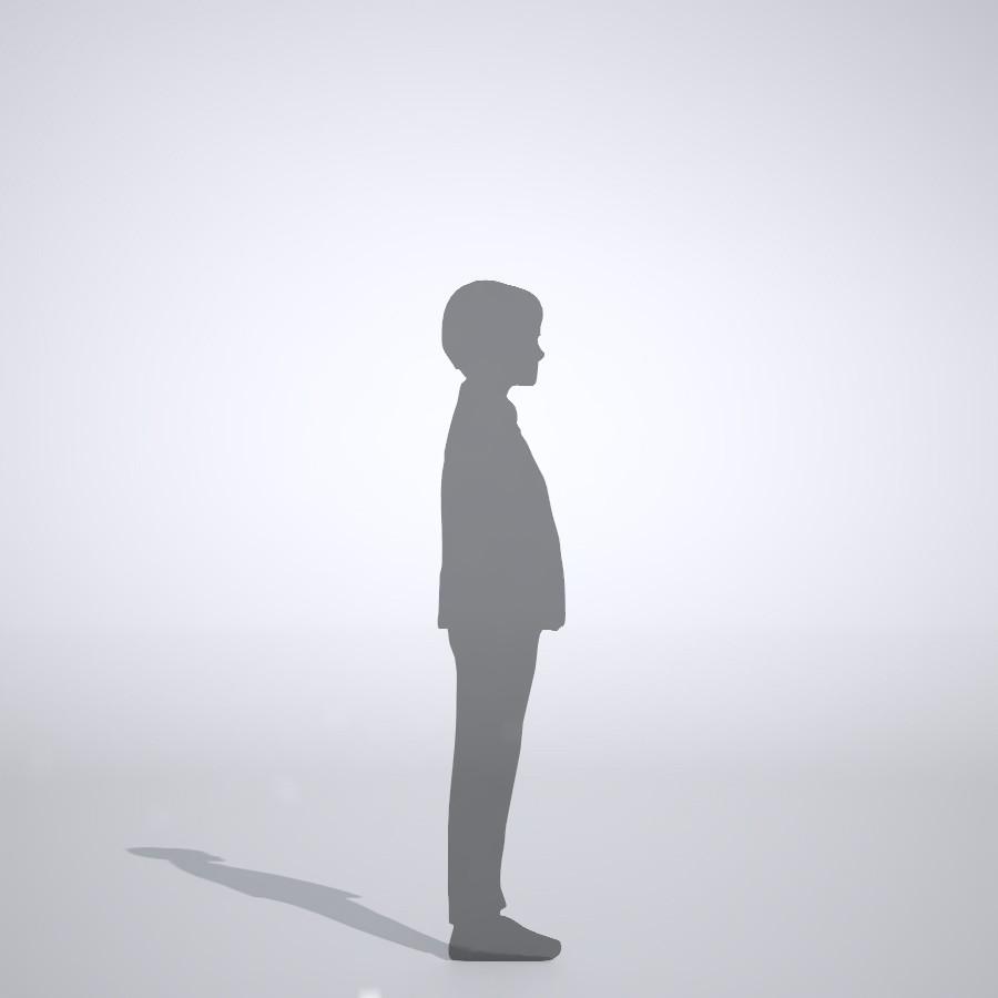 長ズボンを履いた男の子の3dCADデータ│ポリ板 シルエット 人物 人間 子供 Silhouette people human children│3d cad データ フリー ダウンロード 無料 商用可能 建築パース フリー素材 formZ 3D 3ds obj Free download│digital-architex.com