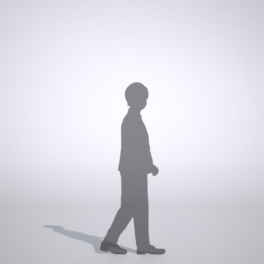 ジャケットを着ている男の子の3dCADデータ│ポリ板 シルエット 人物 人間 子供 Silhouette people human children│3d cad データ フリー ダウンロード 無料 商用可能 建築パース フリー素材 formZ 3D 3ds obj Free download│digital-architex.com