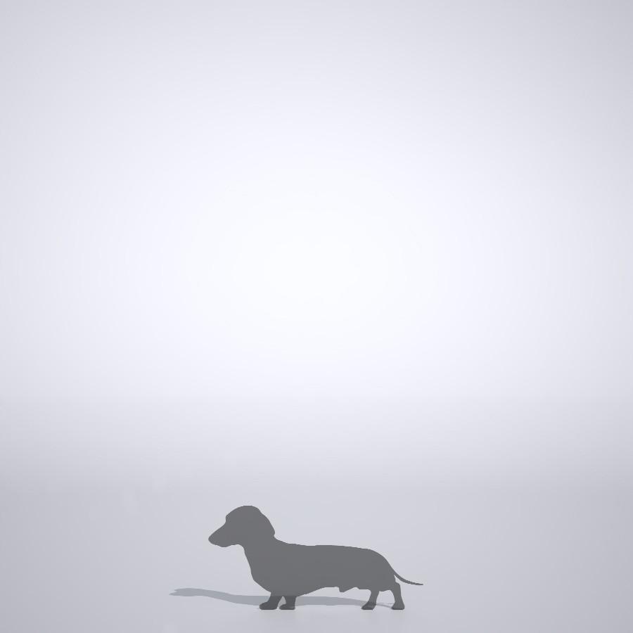 ダックスフンドの3dCADデータ│ポリ板 シルエット 動物 犬 animal dog inu│3d cad データ フリー ダウンロード 無料 商用可能 建築パース フリー素材 formZ 3D 3ds obj Free download│digital-architex.com