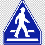 【交通標識】横断歩道の 指示標識【イラスト】ill-tsi_407-A