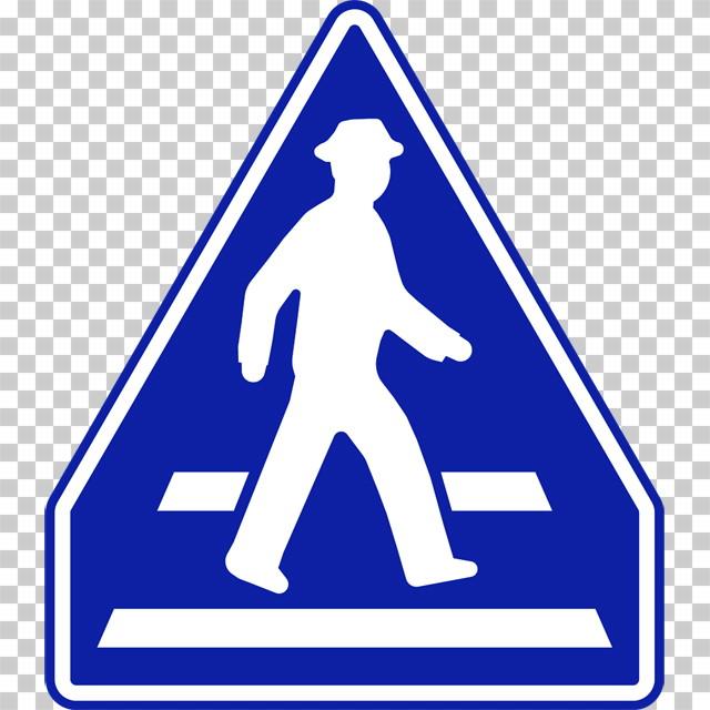 横断歩道の 指示標識│ マーク 日本の道路標識 切り抜き画像 イラスト フリー データ ダウンロード無料 商用可能 フリー素材 ダウンロード Free download 2D illustration JPEG png traffic sign│digital-architex.com