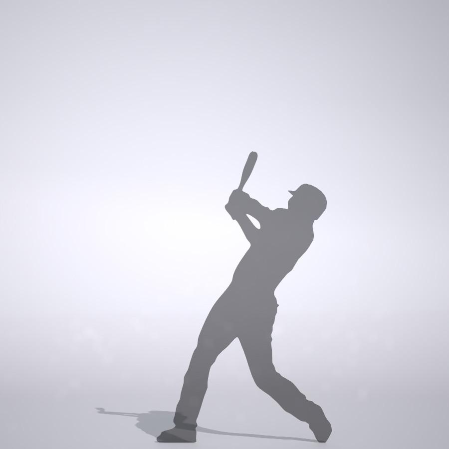 ホームランを打つ野球選手の3DCAD素材丨シルエット 人物 人間 男性 スポーツ 球技 ベースボール ベイスボール mlb メジャーリーグ 大谷翔平 プロ野球選手 二刀流│3d cad データ フリー ダウンロード 無料 商用可能 建築パース フリー素材 formZ 3D 3ds obj Free download│digital-architex.com