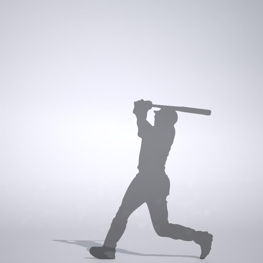 フルスイングをする野球選手の3DCAD素材丨シルエット 人物 人間 男性 スポーツ 球技 ベースボール ベイスボール mlb メジャーリーグ 大谷翔平 プロ野球選手 二刀流│3d cad データ フリー ダウンロード 無料 商用可能 建築パース フリー素材 formZ 3D 3ds obj Free download│digital-architex.com