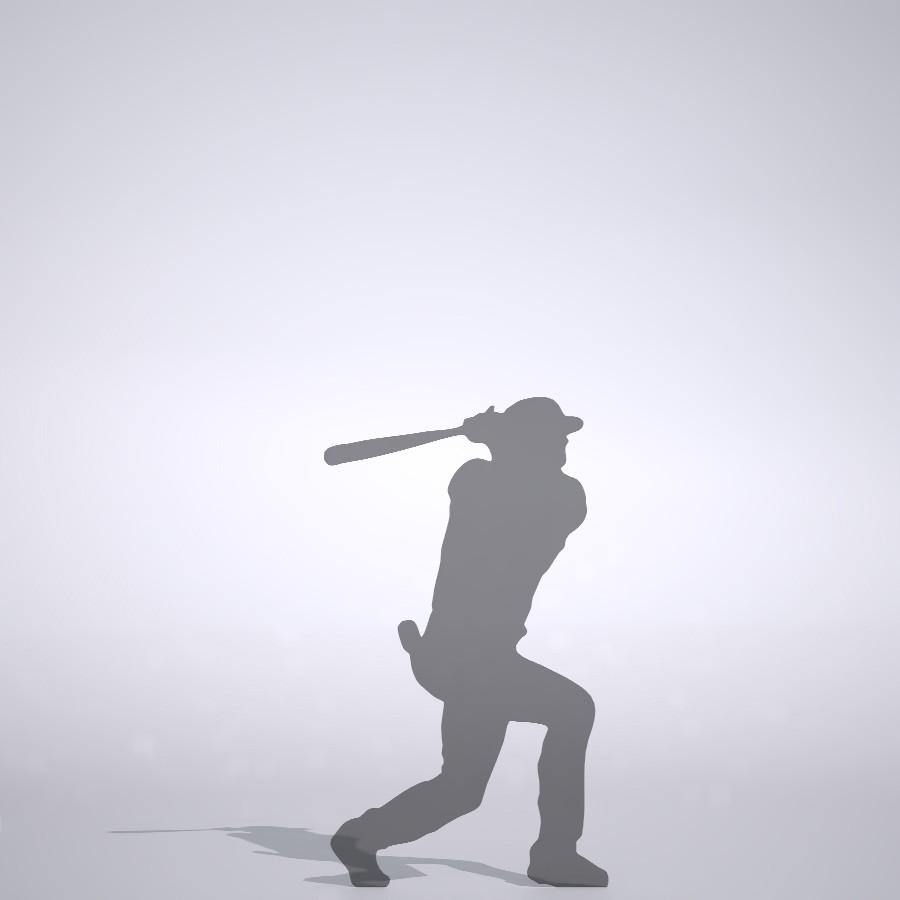 低めを打つメジャーリーガーの3DCAD素材丨シルエット 人物 人間 男性 スポーツ 球技 ベースボール ベイスボール mlb メジャーリーグ 大谷翔平 プロ野球選手 二刀流│3d cad データ フリー ダウンロード 無料 商用可能 建築パース フリー素材 formZ 3D 3ds obj Free download│digital-architex.com