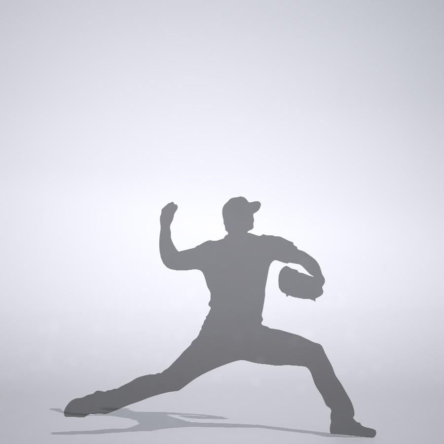 100マイルを投げる投手の3DCAD素材丨シルエット 人物 人間 男性 スポーツ 球技 野球 やきゅう yakyuu ベースボール mlb メジャーリーグ 大谷翔平 プロ野球選手 二刀流│3d cad データ フリー ダウンロード 無料 商用可能 建築パース フリー素材 formZ 3D 3ds obj Free download│digital-architex.com