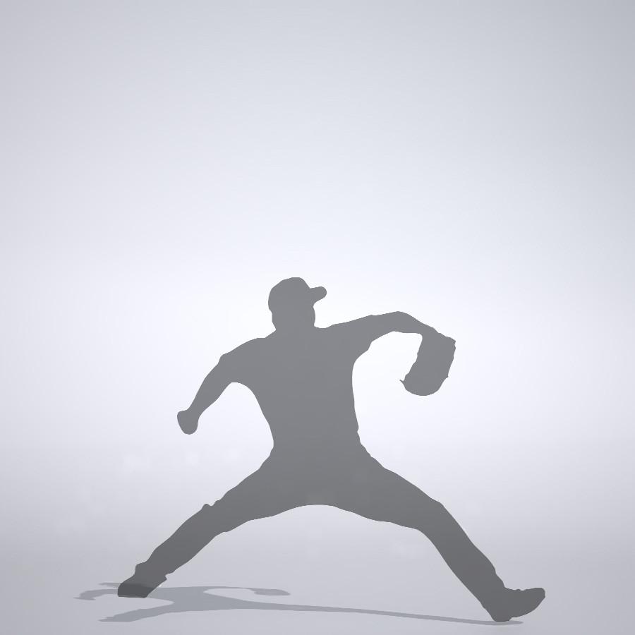 160キロを投げる投手の3DCAD素材丨シルエット 人物 人間 男性 スポーツ 球技 野球 やきゅう ベースボール mlb メジャーリーグ 大谷翔平 プロ野球選手 二刀流│3d cad データ フリー ダウンロード 無料 商用可能 建築パース フリー素材 formZ 3D 3ds obj Free download│digital-architex.com