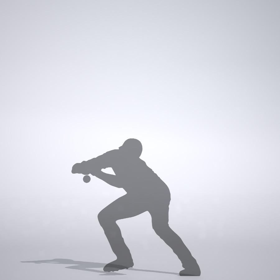 意表を突いてバントをする野球選手の3DCAD素材丨シルエット 人物 人間 男性 スポーツ 球技 野球 やきゅう ベースボール mlb メジャーリーグ 大谷翔平 プロ野球選手 二刀流│3d cad データ フリー ダウンロード 無料 商用可能 建築パース フリー素材 formZ 3D 3ds obj Free download│digital-architex.com