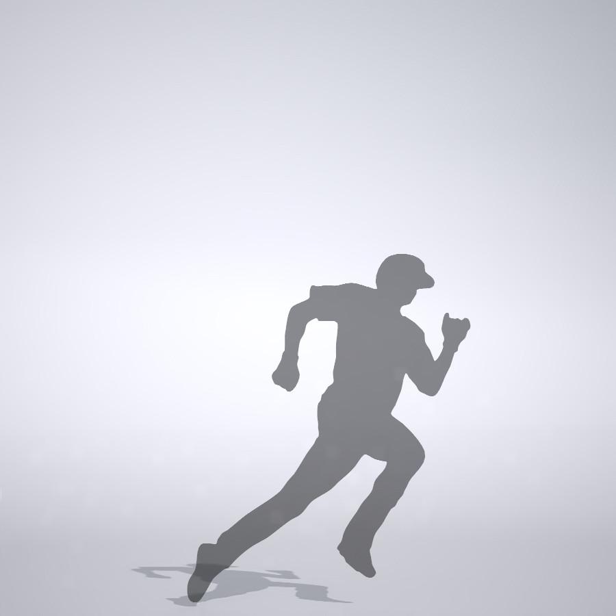 内野安打で激走する選手の3DCAD素材丨シルエット 人物 人間 男性 スポーツ 球技 野球 やきゅう ベースボール mlb メジャーリーグ 大谷翔平 プロ野球選手 二刀流│3d cad データ フリー ダウンロード 無料 商用可能 建築パース フリー素材 formZ 3D 3ds obj Free download│digital-architex.com
