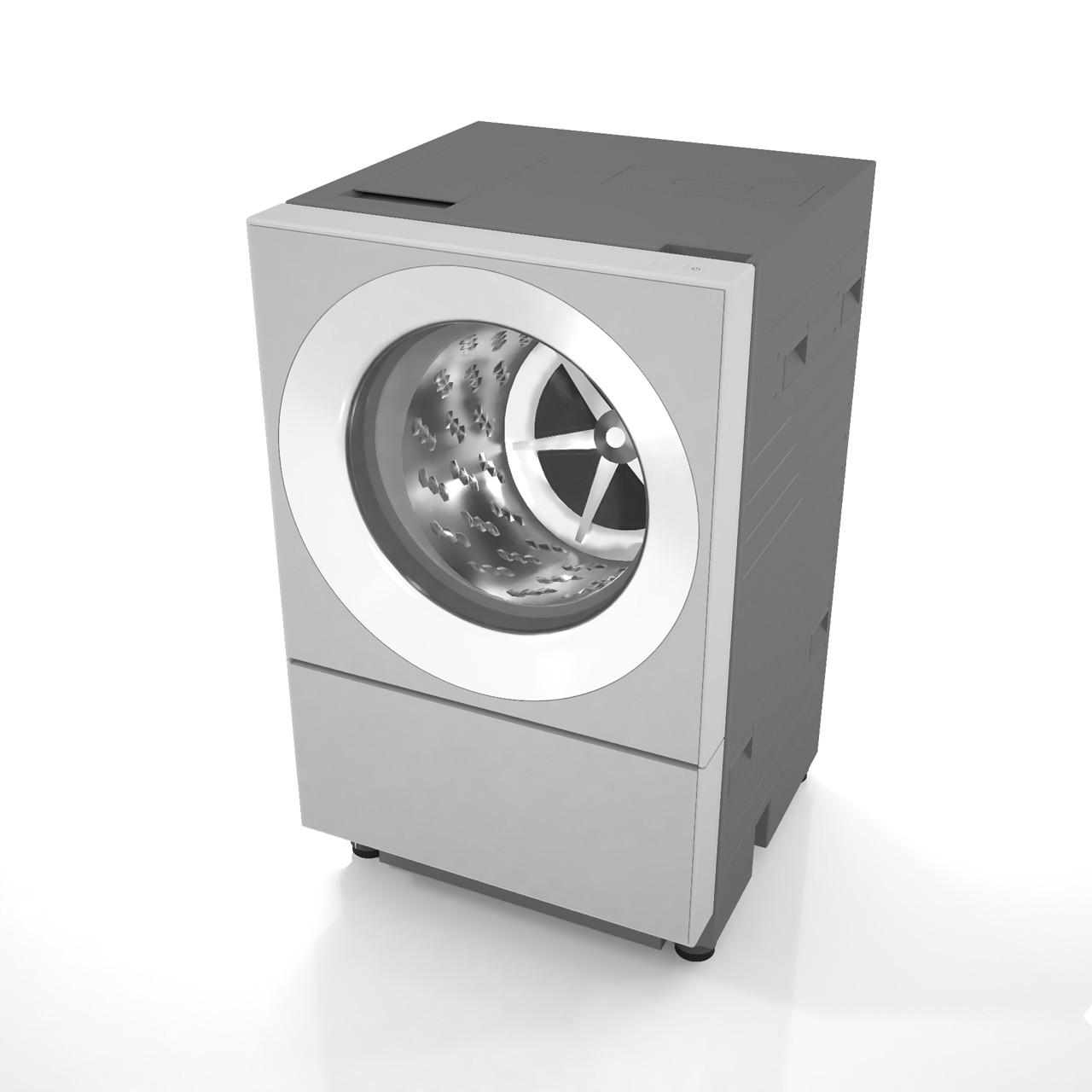 幅600mmサイズのななめドラム洗濯乾燥機(シルバー色)(洗濯・脱水容量/乾燥容量 - 10kg/5kg)の3dCADデータ│インテリア 洗面所 洗面室 家電製品 かでん 洗濯機 せんたくき Sentakki 乾燥機 かんそうき ランドリールーム senntakuki washing machiner│3d cad データ フリー ダウンロード 無料 商用可能 建築パース フリー素材 formZ 3D 3ds obj Free download│digital-architex.com