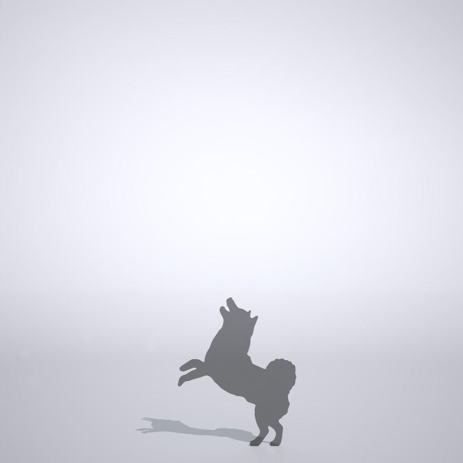 喜ぶ柴犬の3dCADデータ│ポリ板 シルエット 動物 犬 animal dog Shiba inu│3d cad データ フリー ダウンロード 無料 商用可能 建築パース フリー素材 formZ 3D 3ds obj Free download│digital-architex.com