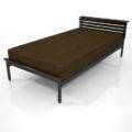 【家具】茶色の シングルサイズのベッド【formZ】 bed_0006