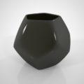 フリー素材 formZ 3D インテリア interior 雑貨 miscellaneous goods 正12面体の黒い植木鉢 フラワーポット flowerpot