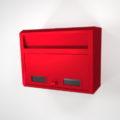 【ポスト】壁掛けの郵便受け(赤色)【formZ】 post_0003