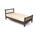 【家具】茶色の シングルサイズのベッド【formZ】 bed_0008