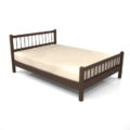 【家具】茶色の ダブルサイズのベッド【formZ】 bed_0012