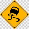 すべりやすいの 警戒標識│スリップ 滑る車 マーク 日本の道路標識 切り抜き画像 イラスト フリー データ ダウンロード無料 商用可能 フリー素材 ダウンロード Free download 2D illustration JPEG png traffic sign│digital-architex.com