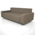 【家具】灰褐色の 2.5人掛けソファ【formZ】 sofa_0012