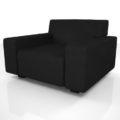 【家具】黒色の 1人掛けソファ【formZ】 sofa_0019