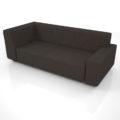 【家具】黒色の3人掛けコーナーソファ【formZ】 sofa_0040